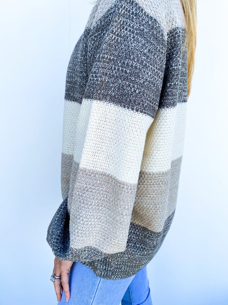 Say Yes To Stripes Sweater - Mint Green