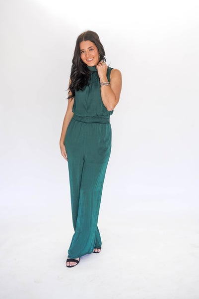 The Royal Treatment Emerald Pantsuit