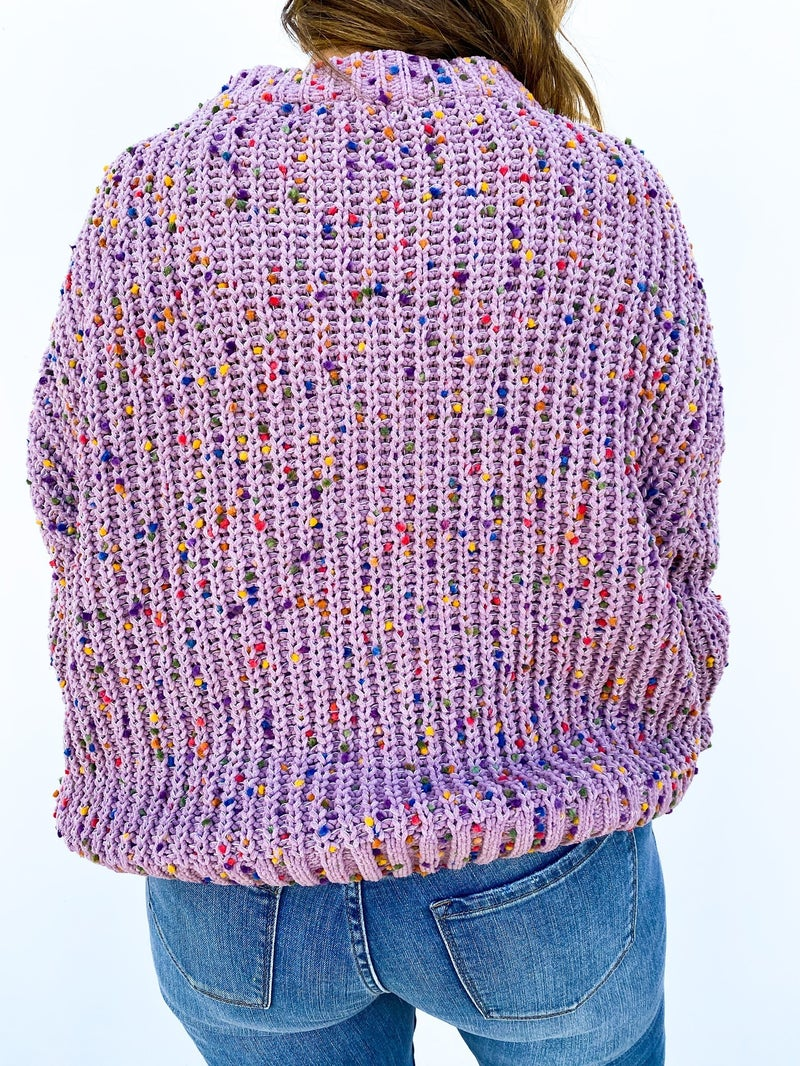 Sprinkled With Love Confetti Sweater