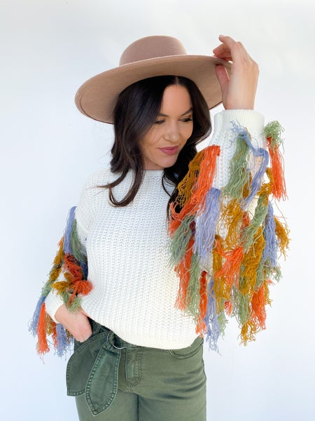 Sway My Way Fringe Sweater