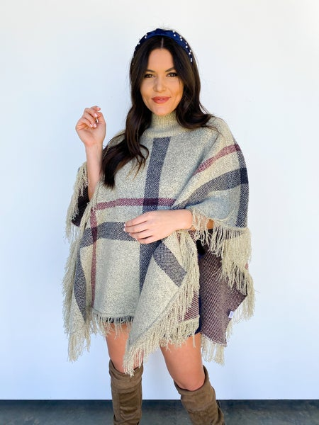 Make My Day Fringe Poncho *Final Sale*