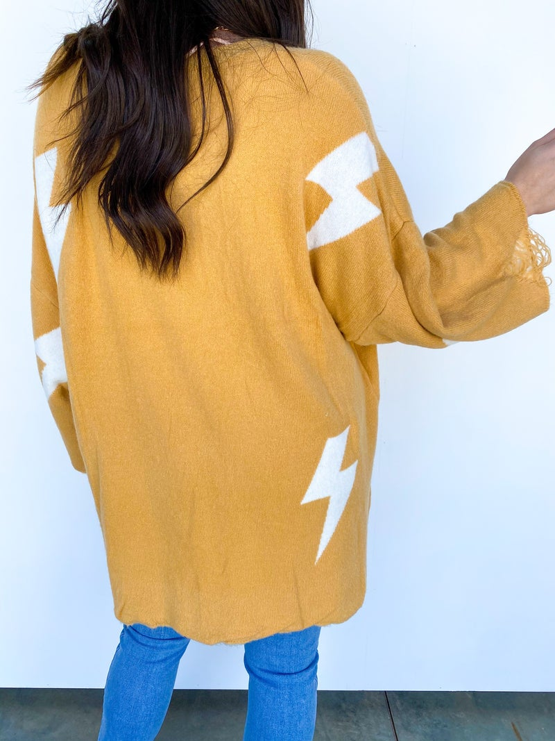 The Lennon Lightning Bolt Sweater/Tunic