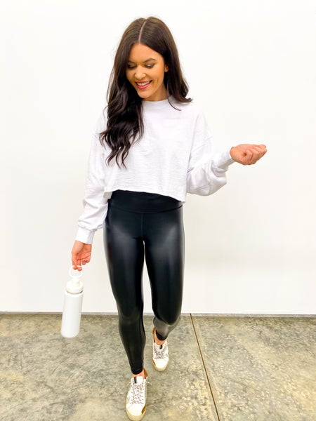 The Energize Long Sleeve Crop - White