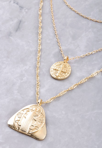 St Benedict Layered Necklace