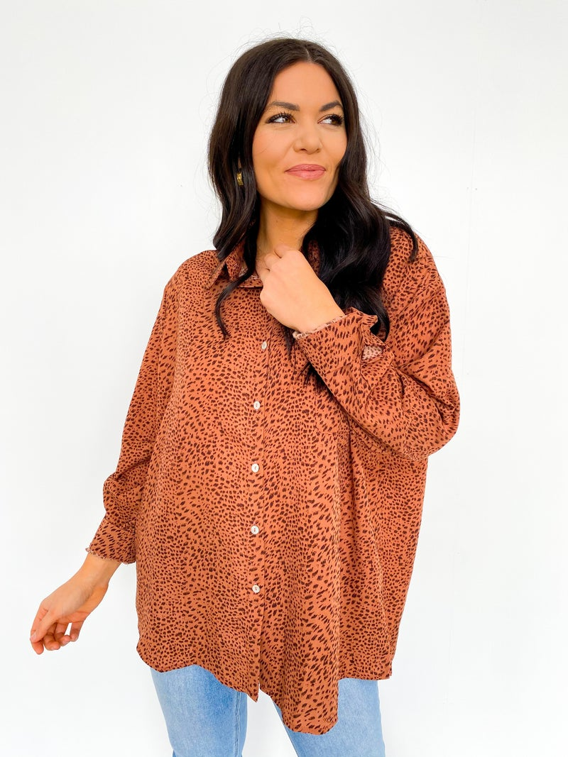 The Lennon Rose Cheetah Oversized Button Down