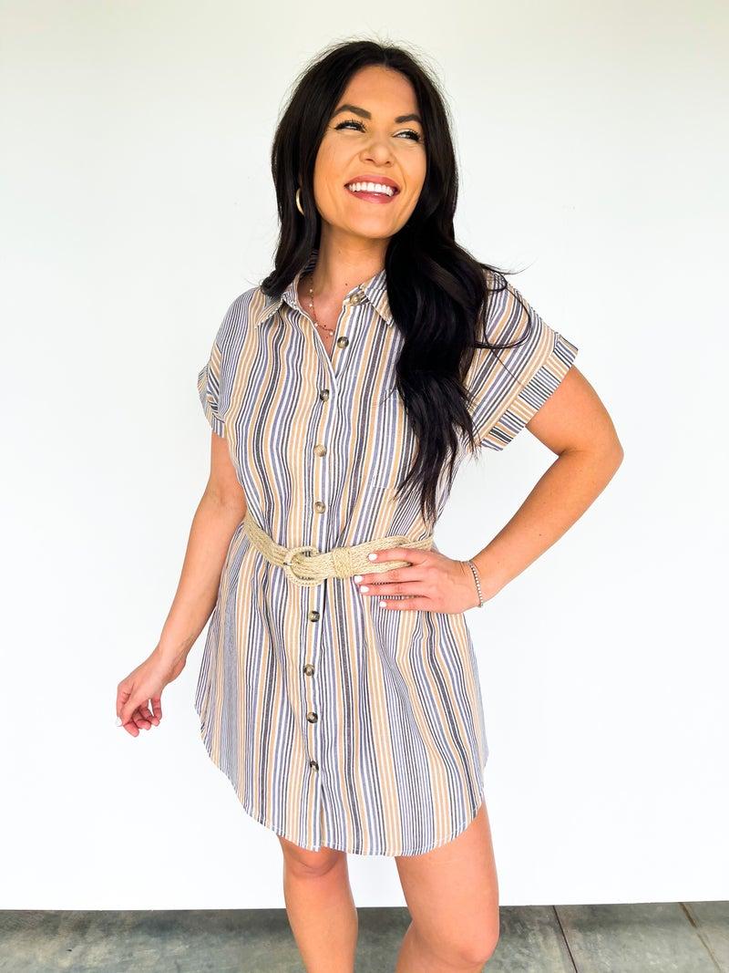 South Carolina Sweetheart Stripe Dress W/ Belt