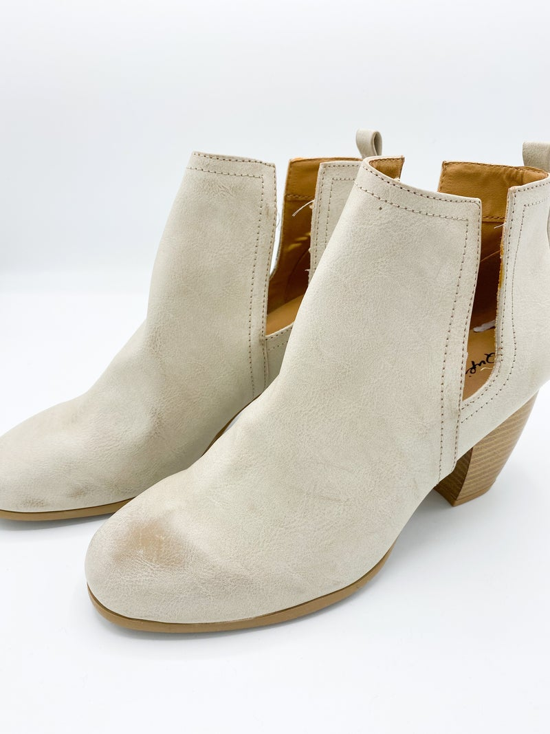 Zillion Distressed Stonewash Ankle Bootie