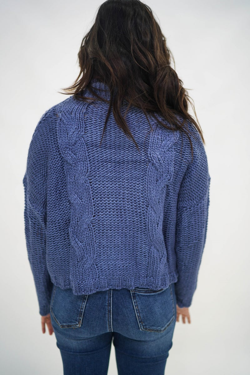 I'll Be Fine Cableknit Turtleneck Sweater *Final Sale*