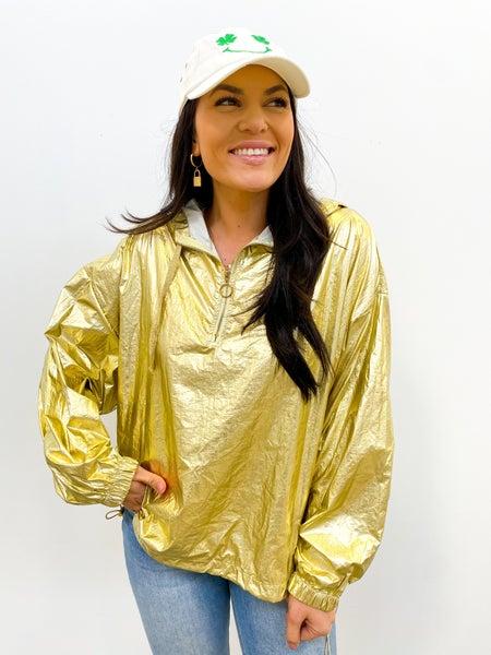 Gold Wind Breaker Pullover *Final Sale*