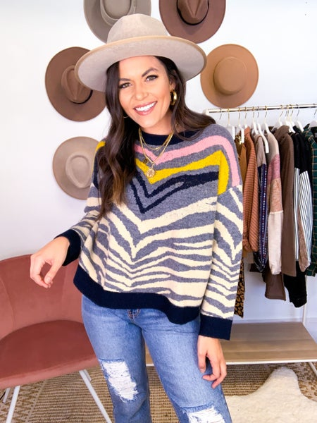 Show Your Stripes Crew Sweater *Final Sale*