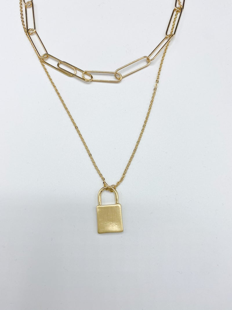 The LV Lock Necklace