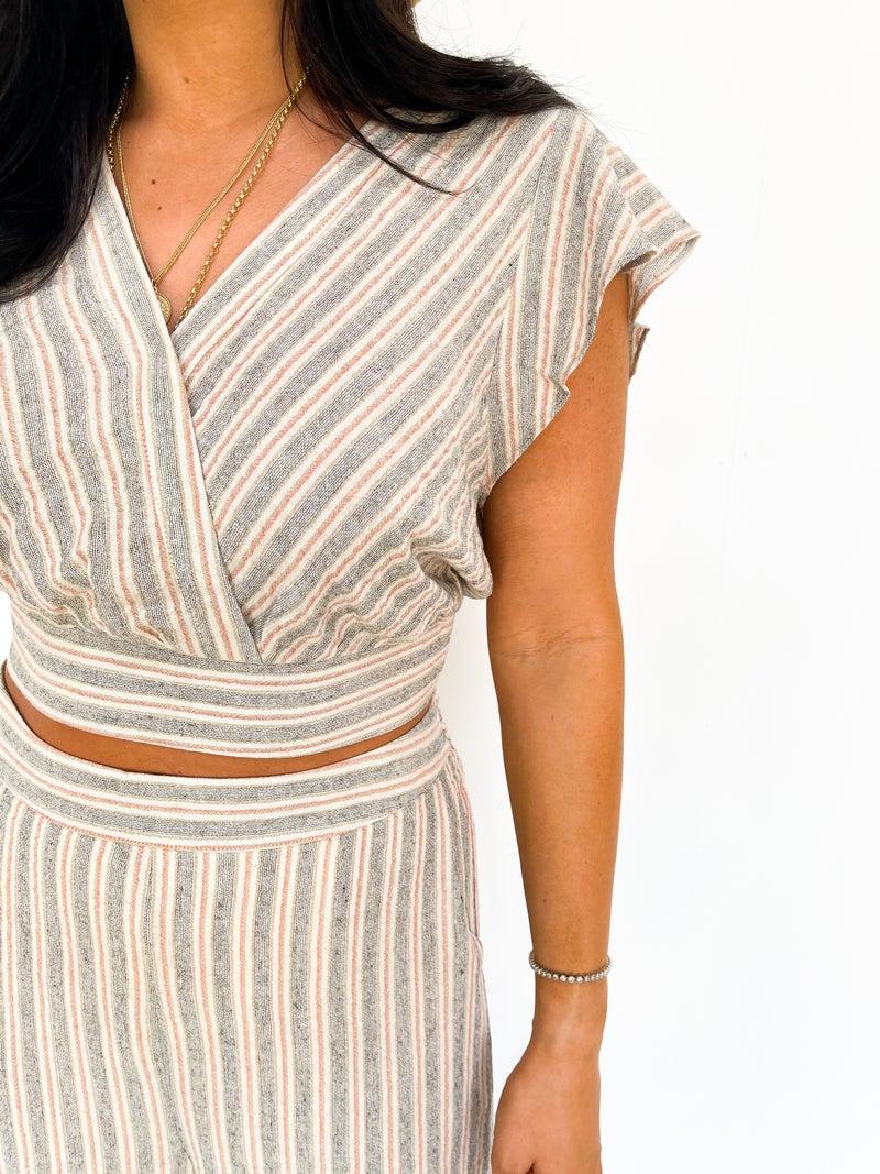 Sawyer Linen Stripe Striped Set