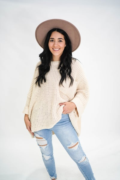 The Olivia Oversized Pocket Sweater