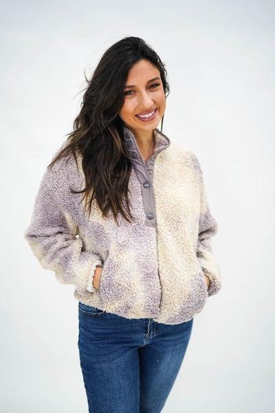 Sorbet Swirl Sherpa Half Button Pullover *Final Sale*