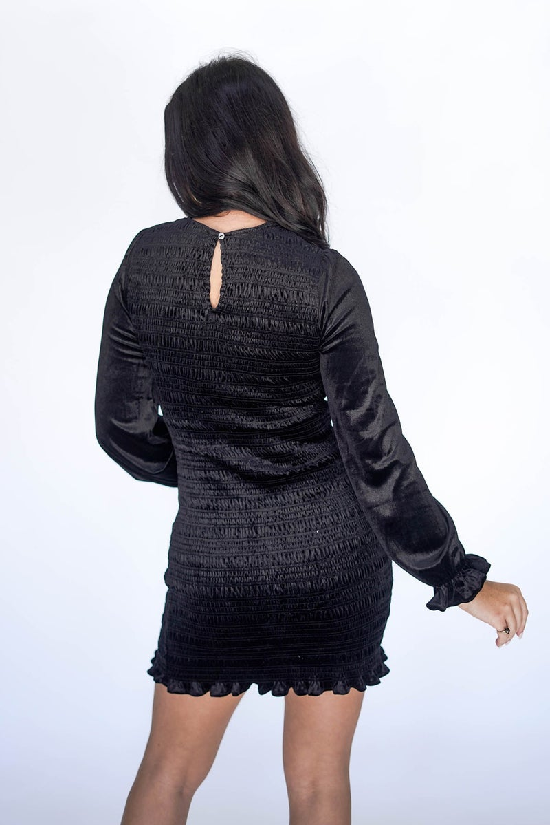 Velvet Smocked Holiday Dress