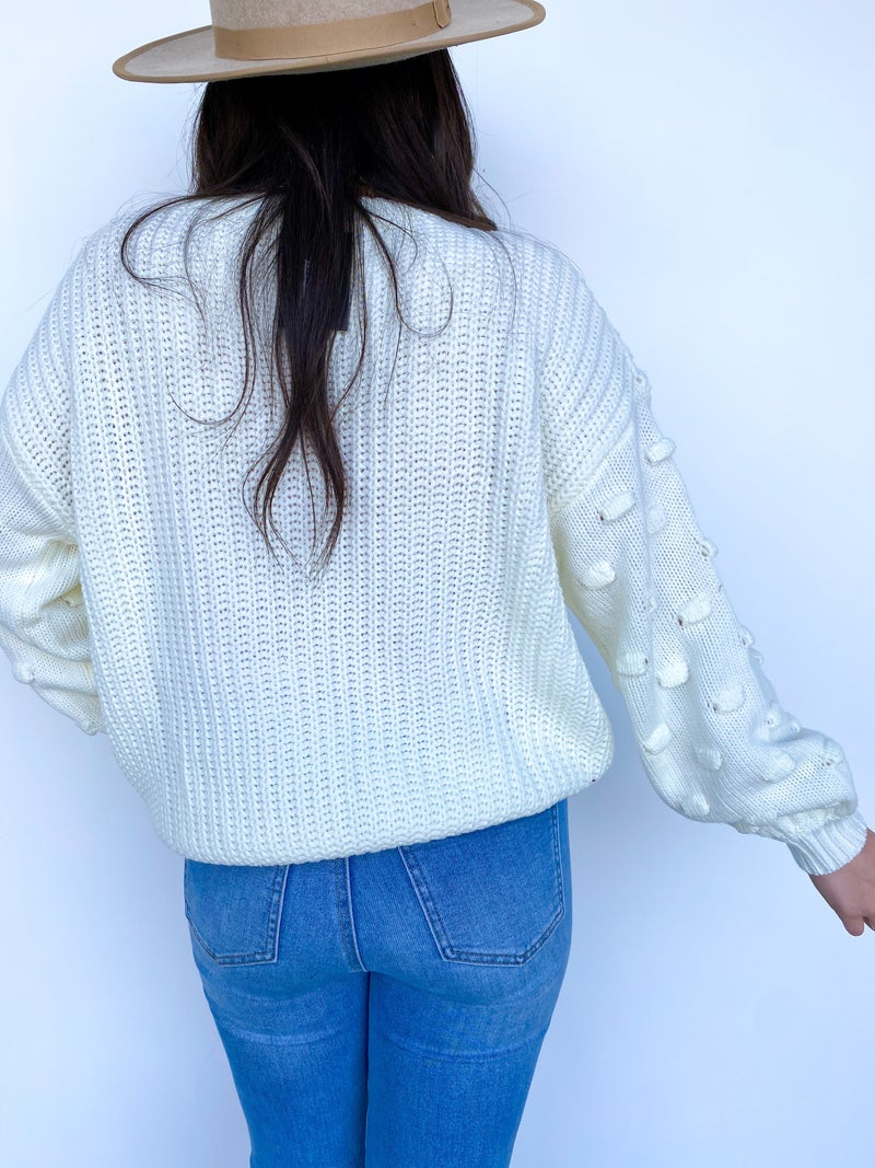 Just Add Blush Sleeve Detail Sweater