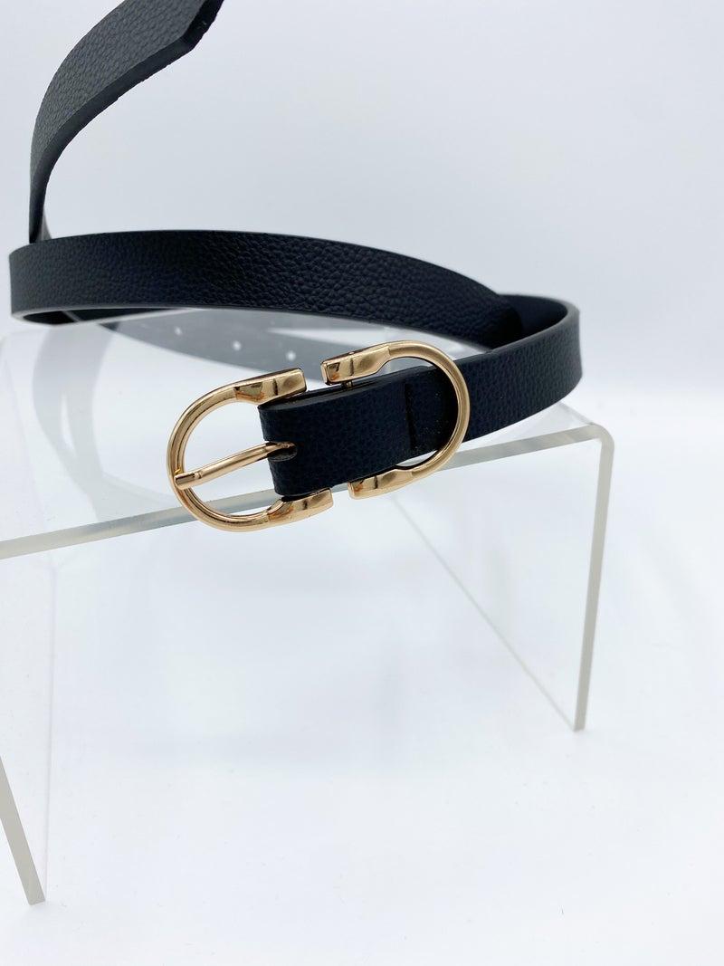 The Keegan Thin Double Buckle Belt