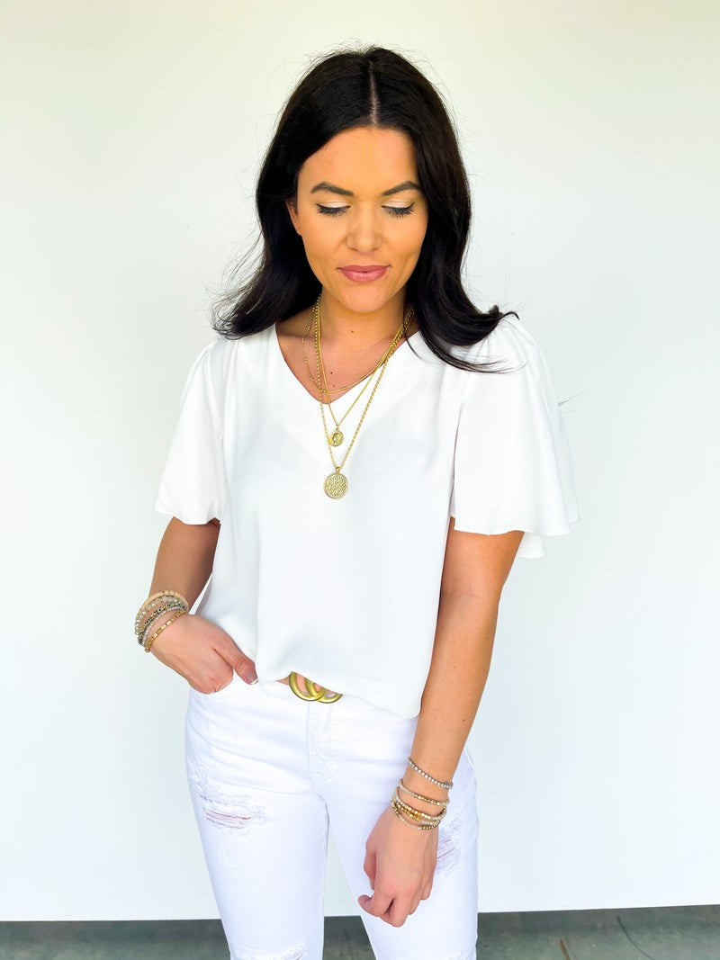 Betsy Butterfly Top - Ivory