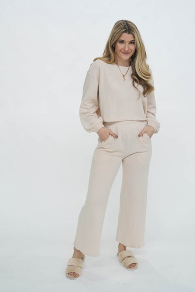 Cozy With Hot Cocoa Lounge Set Ivory *Final Sale*