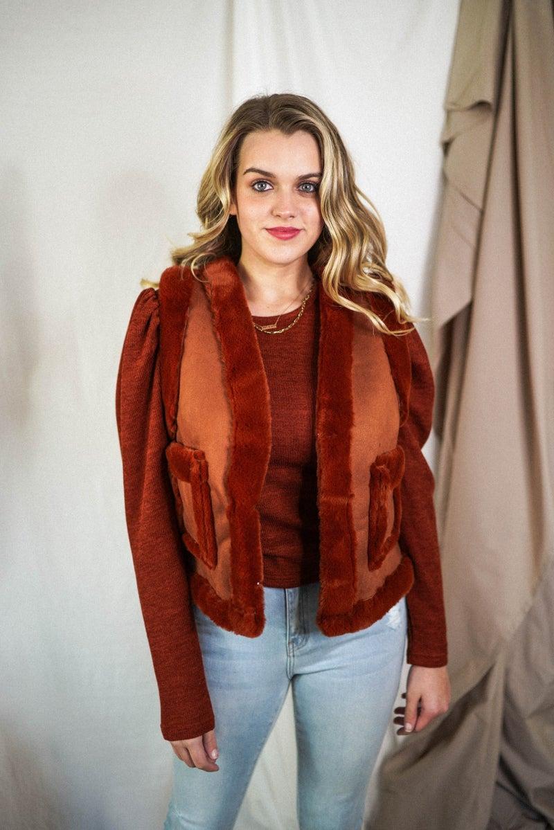 The Lola Suede/Fur Vest *Final Sale*