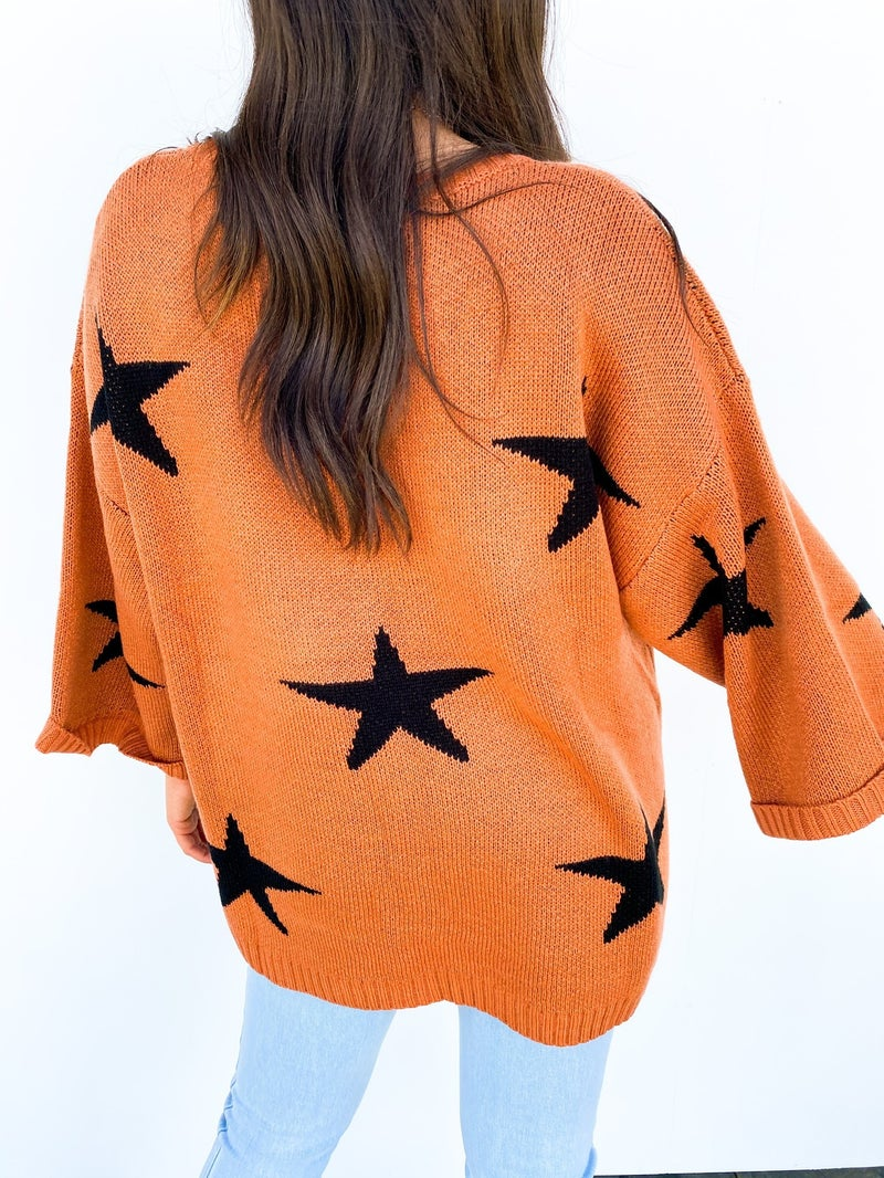 Time To Soar Clay Star Sweater