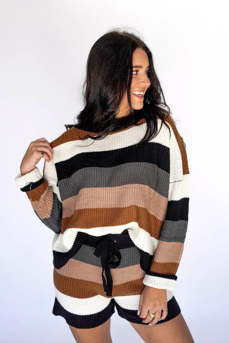 Sunset Horizon Stripe Sweater Set *Final Sale*