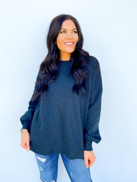 Milkyway Charcoal OverSized Sweatshirt