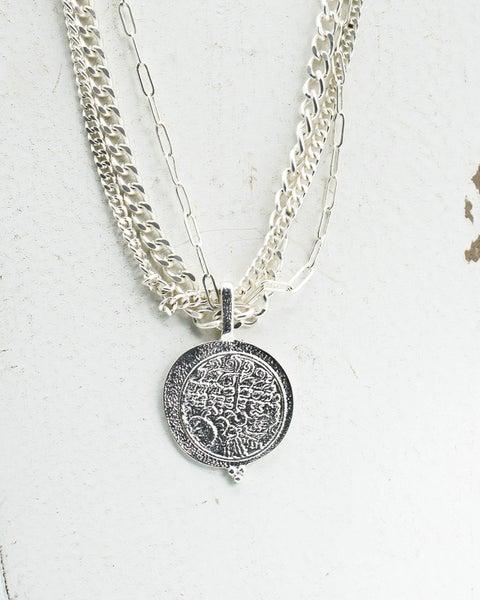 Sala Coin Necklace Silver