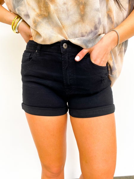 The Olivia Black WAX Shorts Cuffed