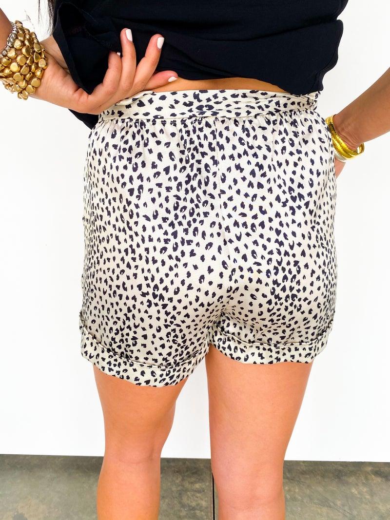 Baby Cheetah Satin Shorts