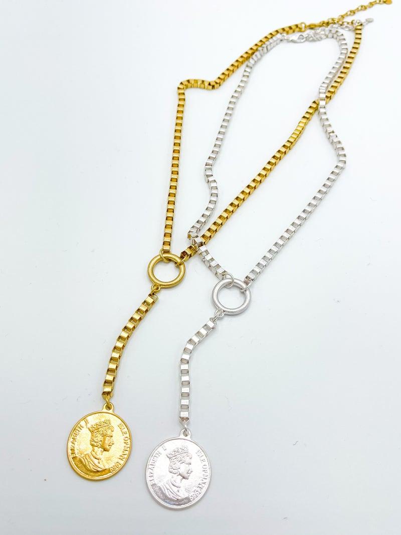 The Baldi Square Box Chain Drop Necklace *Final Sale*