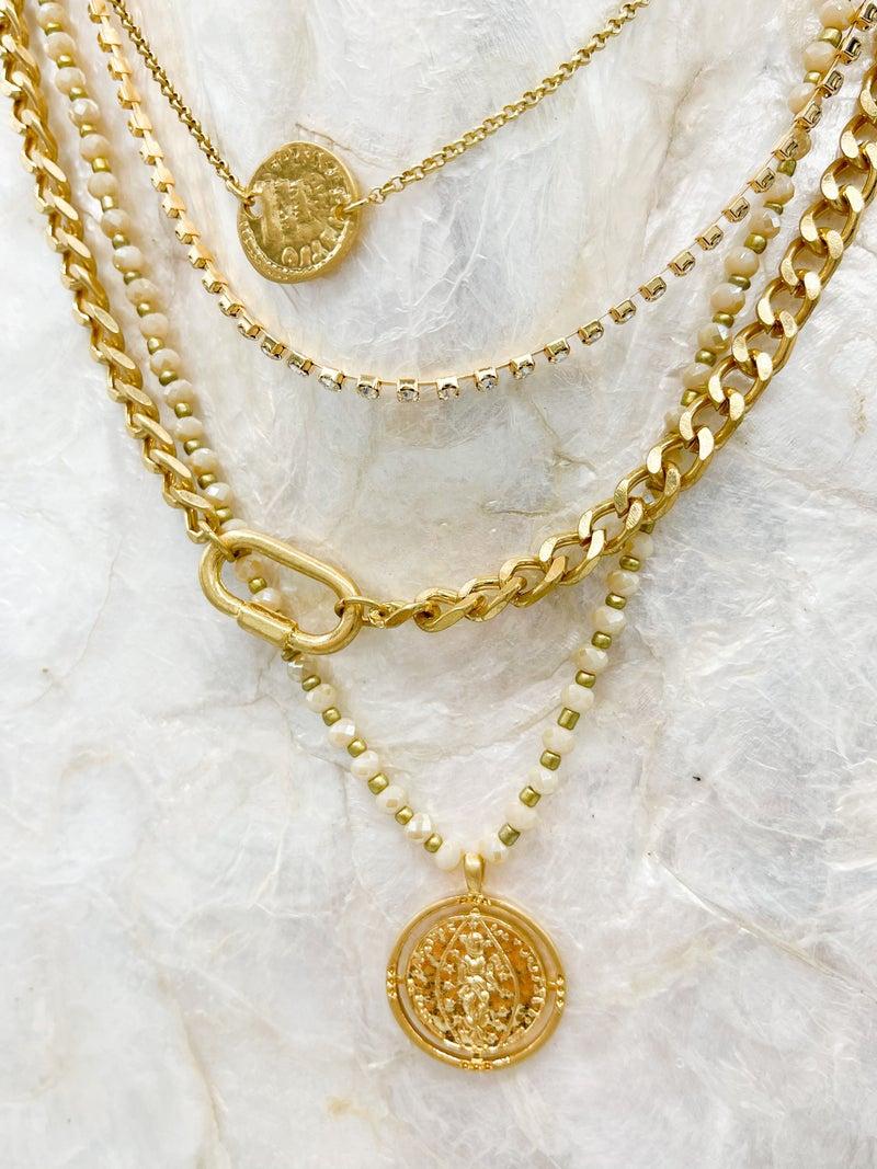 Sensational Layered Necklace W/ Disc
