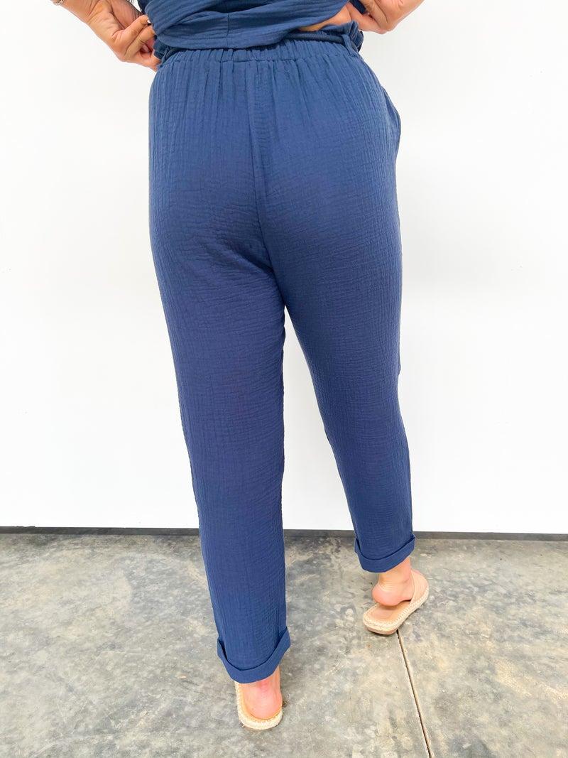 Crepe Tie Pants