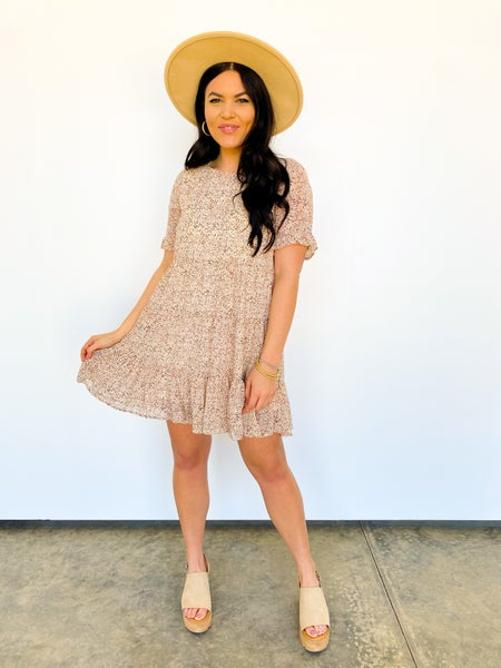 The Tansie Print Ruffle Dress