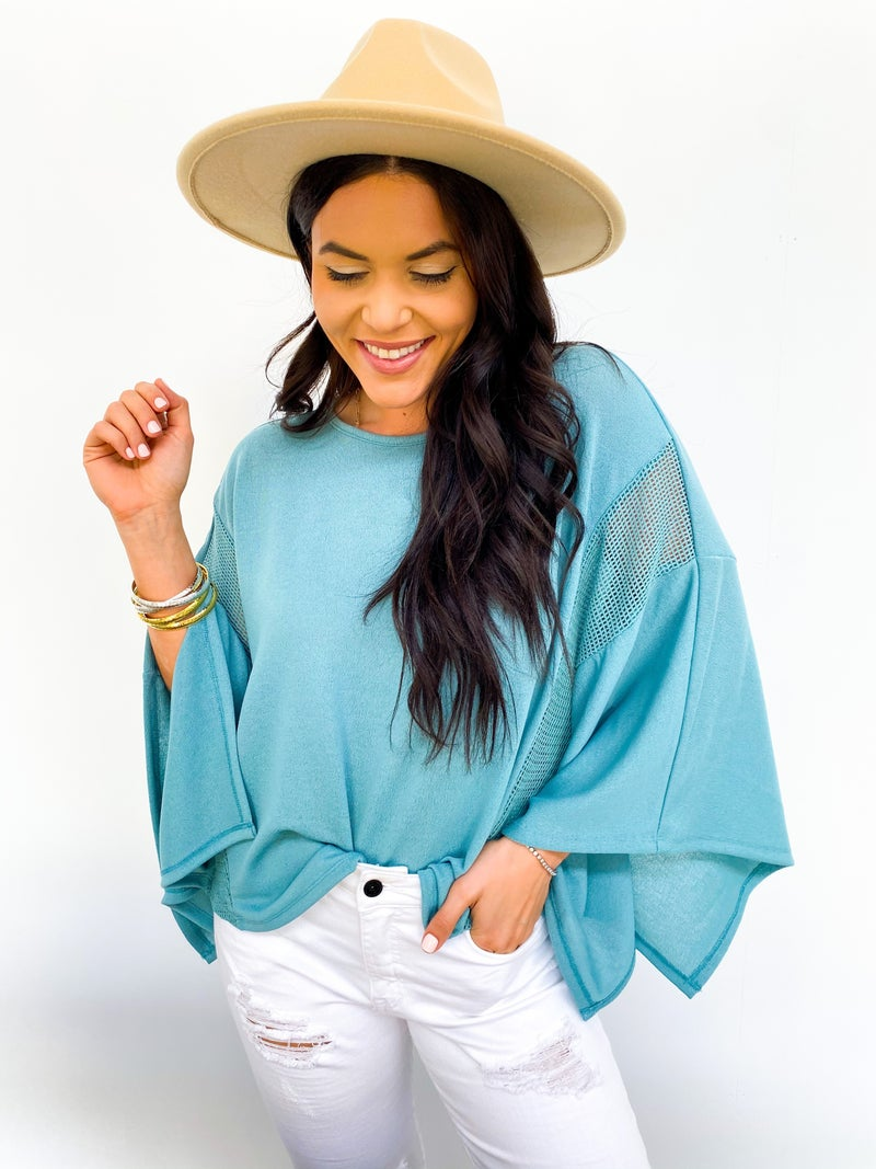 By The Seashore Poncho Top