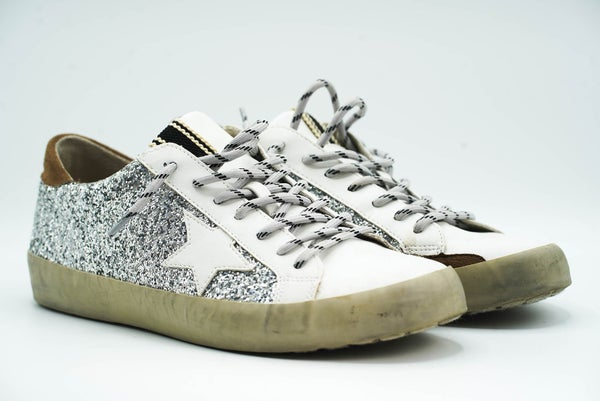 Glitter Designer Dupe Star Sneaker