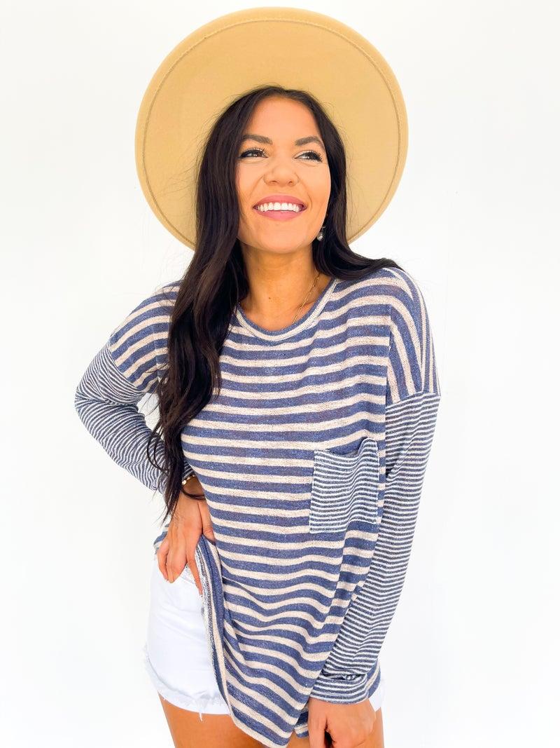 Nautical Nellie Striped Summer Sweater