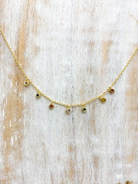 Rainbow Dangle Necklace