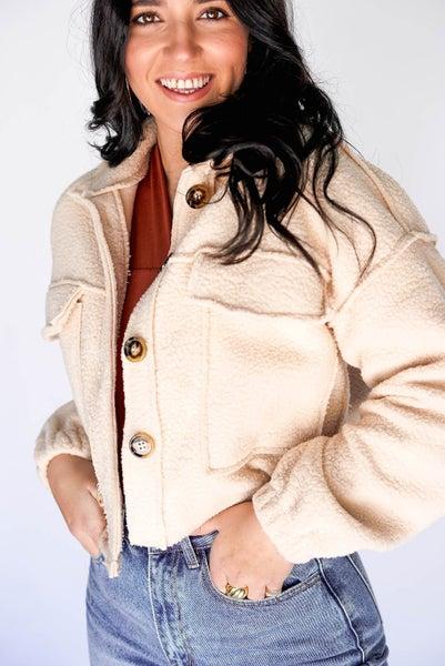 Creme Brulee Cropped Jacket