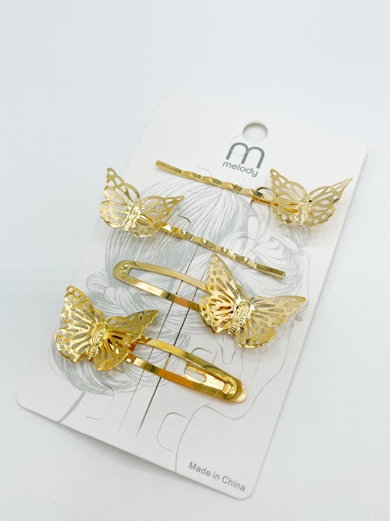 Butterfly Clip Set Of 4