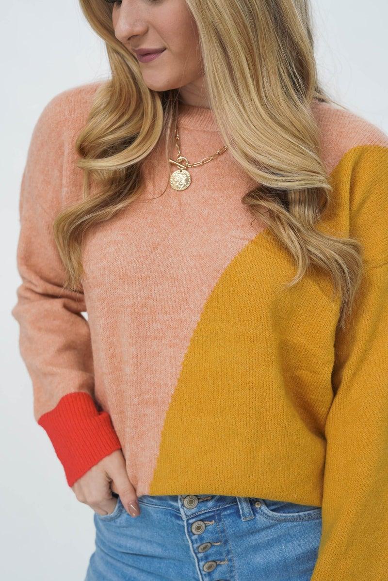 I Cant Decide Geometric Sweater
