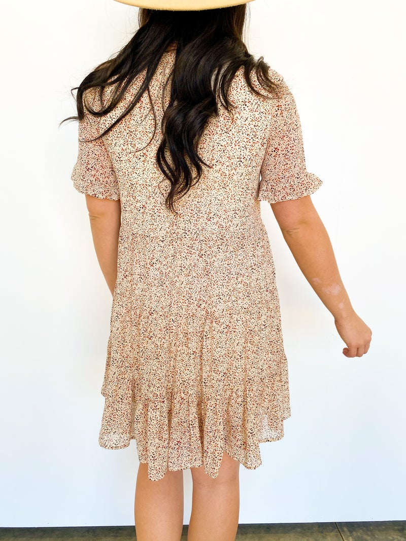 The Tansie Print Ruffle Dress