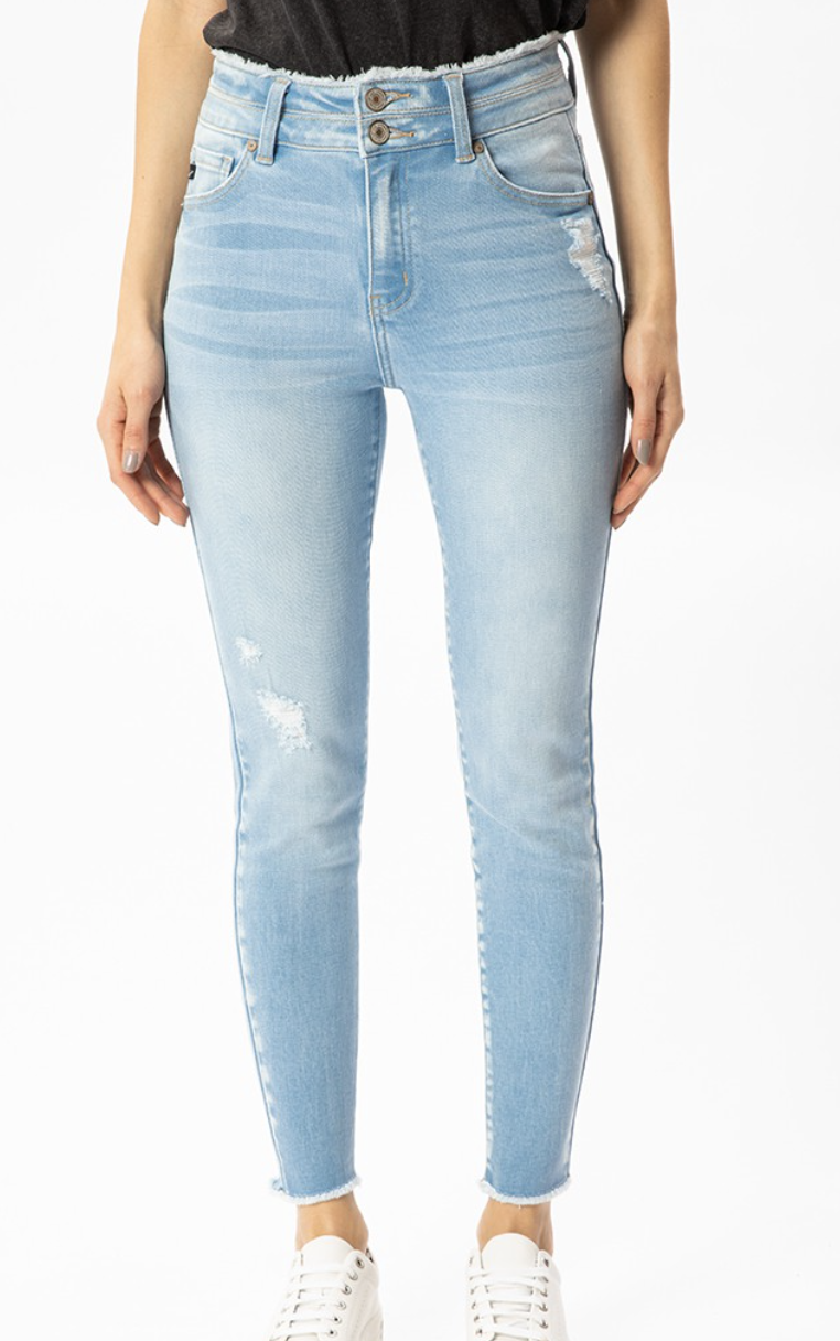 The Gemma Button Ankle Skinny
