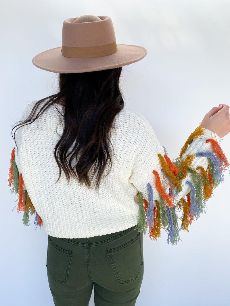 Sway My Way Fringe Sweater