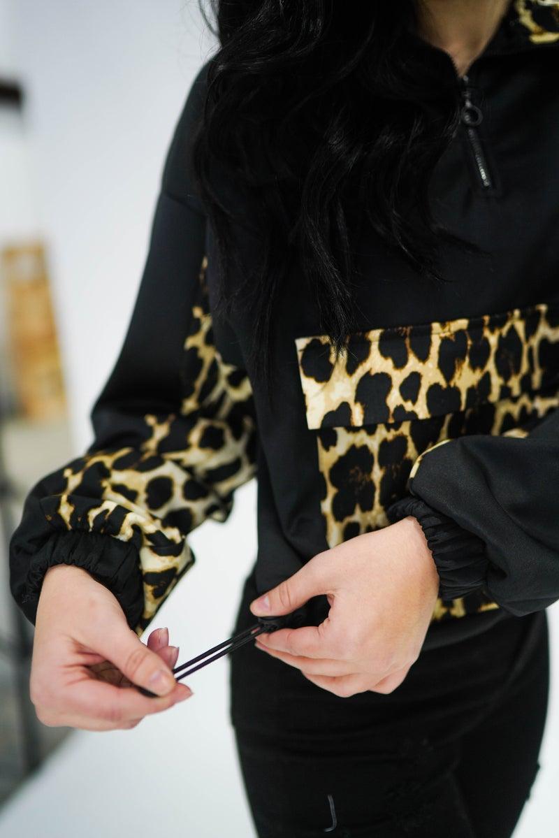 Doorbuster Deal Leopard Half Zip *Final Sale*