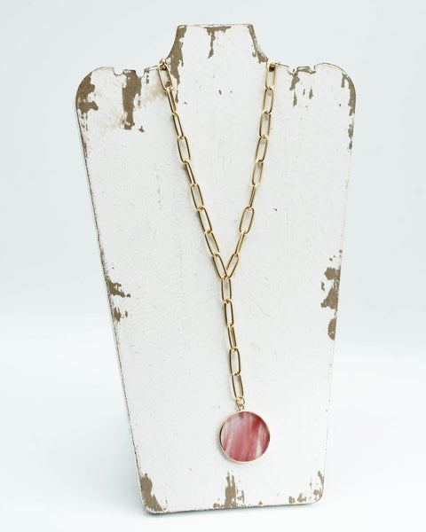 The Rose Circle Chain Necklace