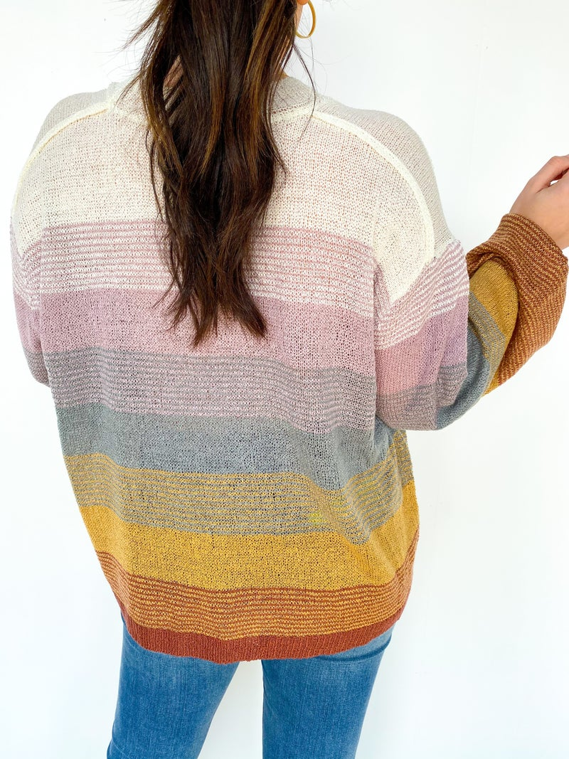 Lillian Multi Color Striped Sweater