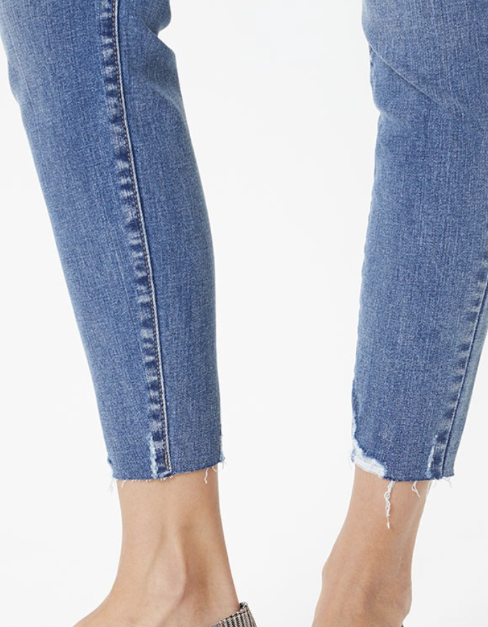 The Archie Exposed Button Ankle Skinny