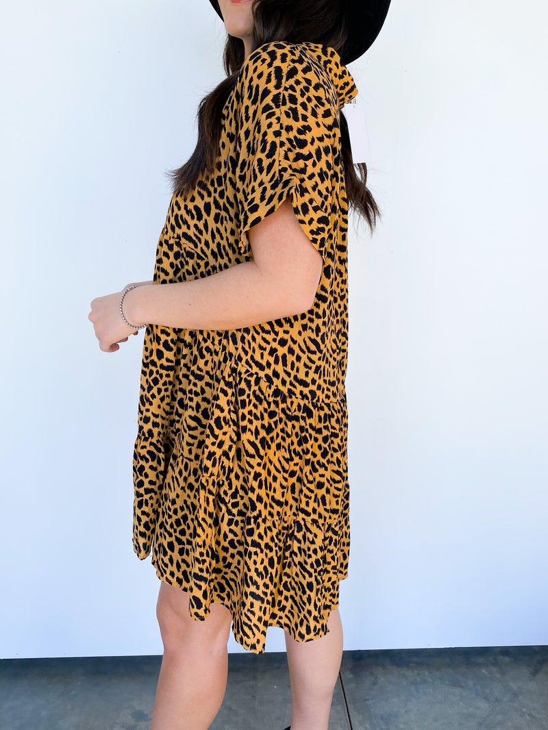 Tallie Tiered Cheetah Dress