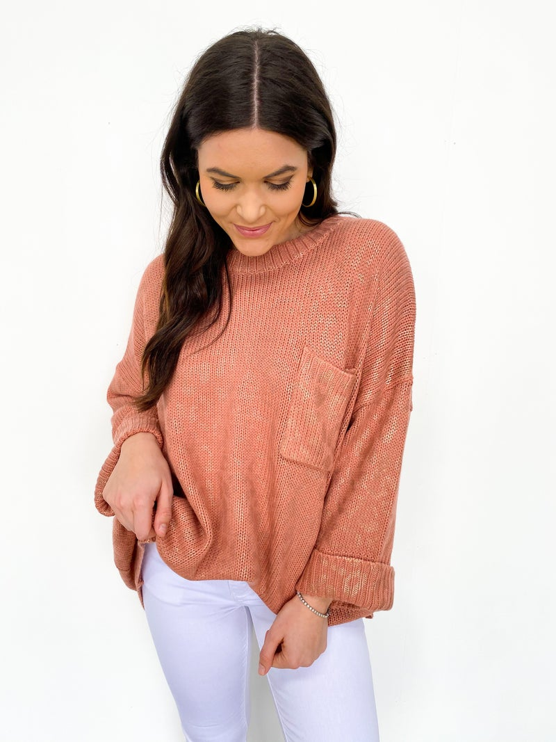 Oversized Rose Gold Animal Print Sweater